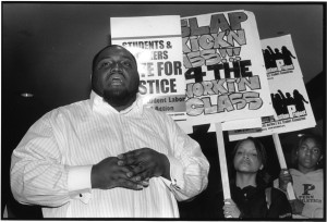 photo of Tom Robinson at a protest