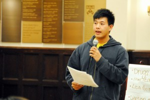 Wei Chen delivering a speech