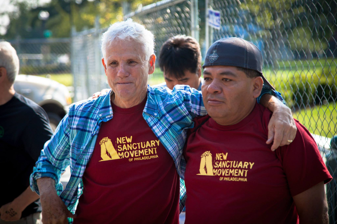 Two members of New Sanctuary Movement.