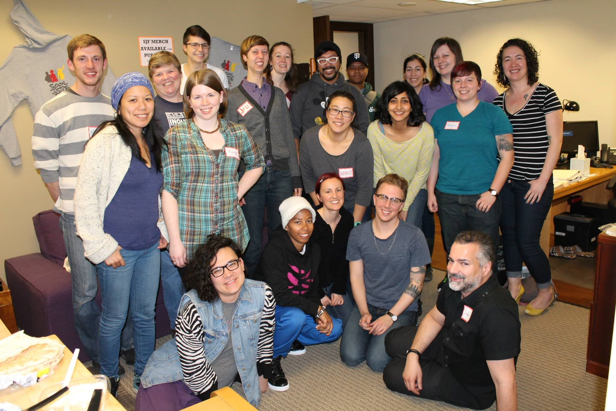 Members of Social Justice Fund Northwest's 2014 Gender Justice Giving Project.