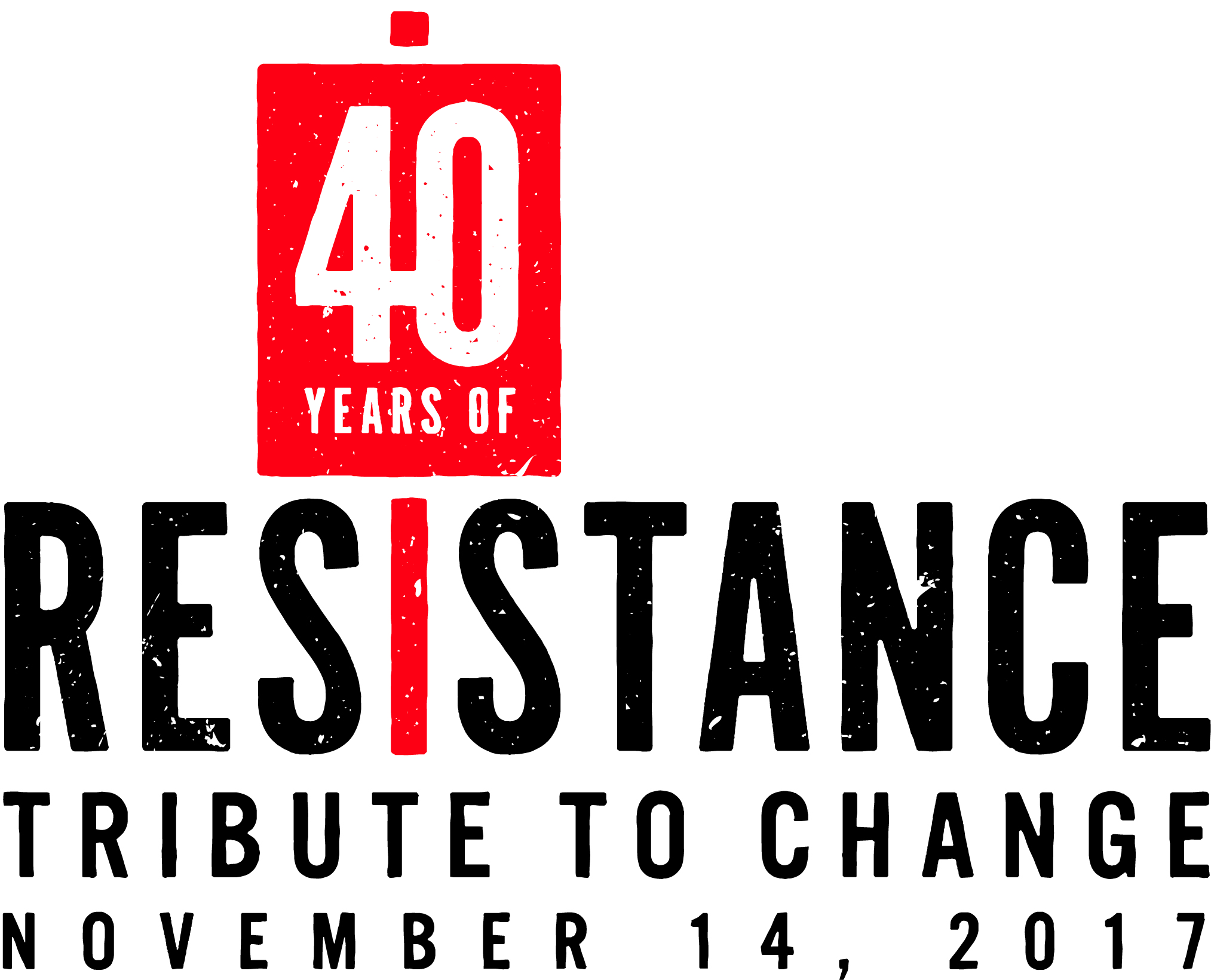 40 years of resistance logo
