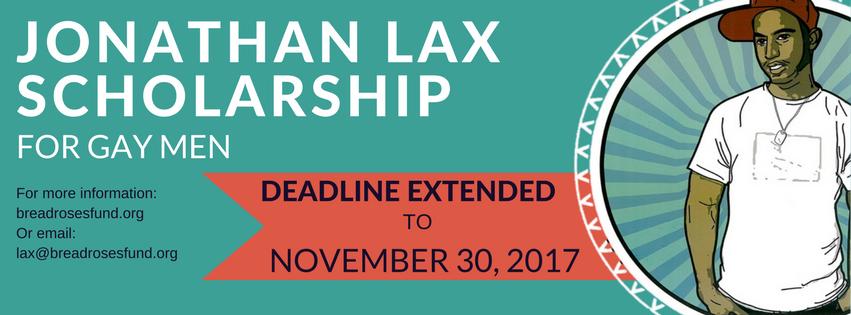 Jonathan Lax Scholarship — Deadline extended!