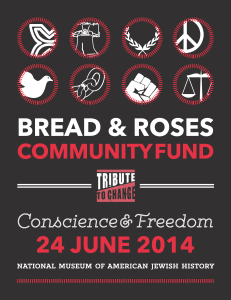 "Tribute to Change 2014 ""Conscience & Freedom"" poster"