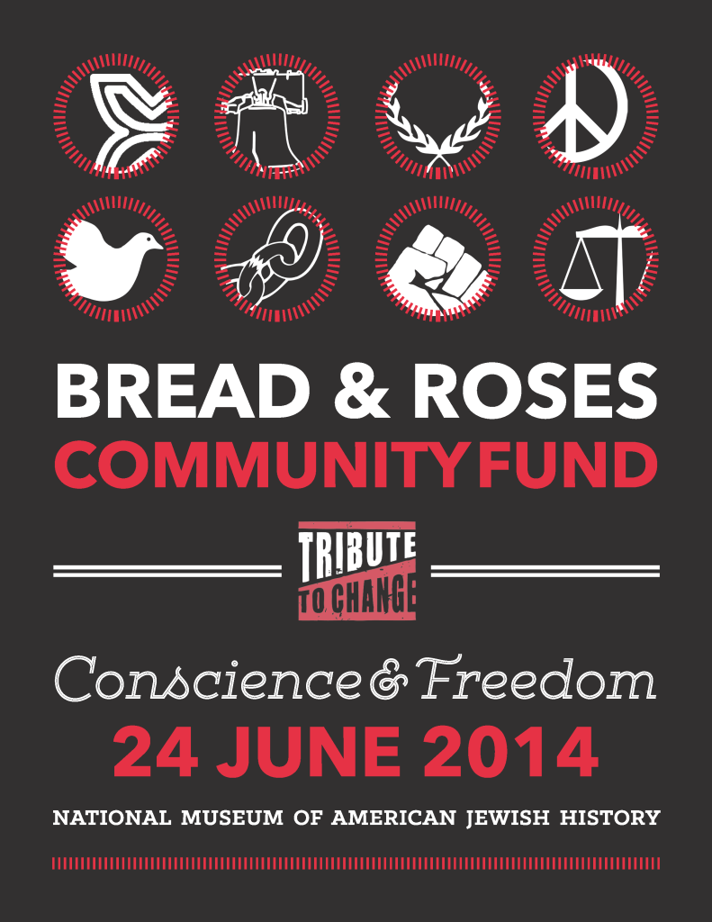 """Poster for the 2014 Tribute to Change, """"Conscience & Freedom"""""""