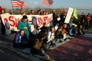 photo of a Casino Free Philadelphia protest