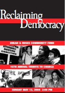 """2004 Tribute poster """"Reclaiming Democracy"""""""