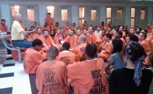 A workshop in a men's prison.