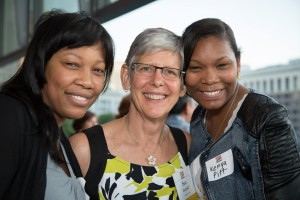 Photo of Sue Osthoff and friends at Tribute to Change.