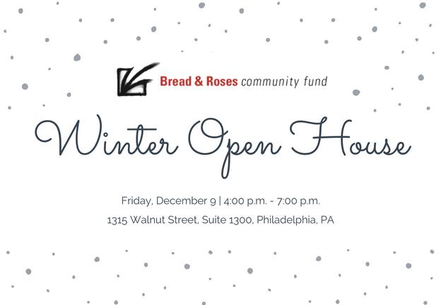 Winter Open House Banner - December 9, 2016