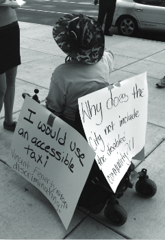 Disabled in Action & Taxi Workers Alliance of PA, both Racial & Economic Justice Fund grantees, won a lawsuit filed against the Pennsylvania Parking Authority for its failure to provide wheelchair- accessible taxis.