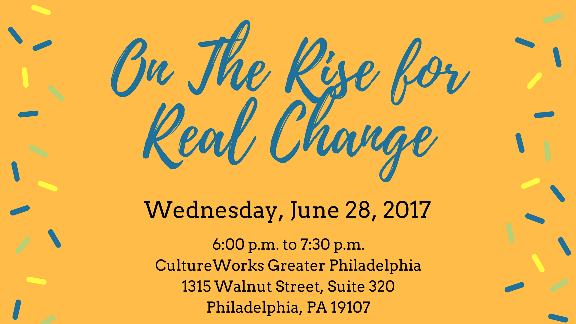 On the Rise for Real Change graphic