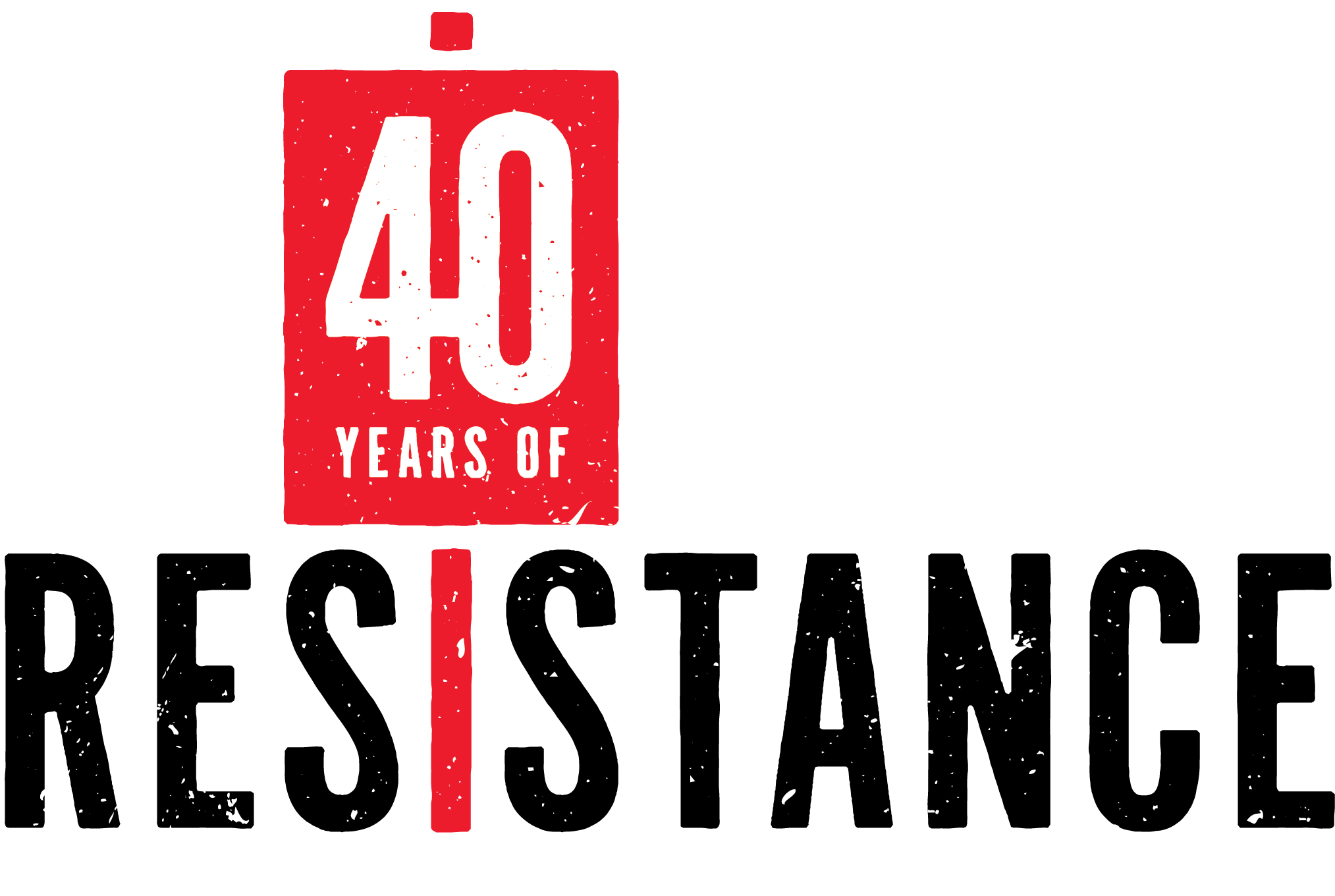 forty years of resistance tribute to change logo